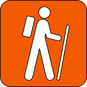 Hiking clipart hiking trail Online Clker Clip Orange at