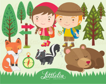 Hiking clipart journey Set/instant Etsy download 14012 Fun