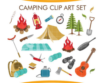 Hiking clipart journey Hiking PNG Set Elements Printable
