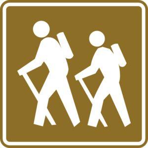 Hiking clipart logo Tourist images hiking Sign Logo