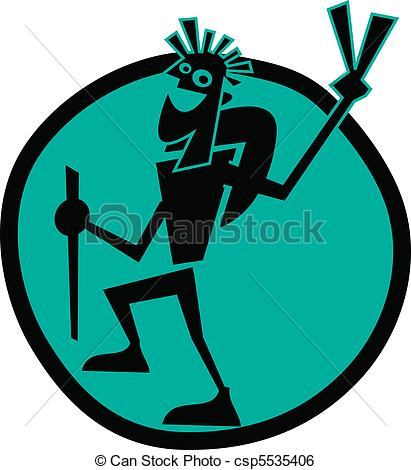 Hiking clipart logo Backpacking or of Vector or