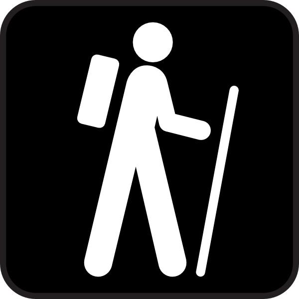 Hiking clipart logo Clip  for vector) art