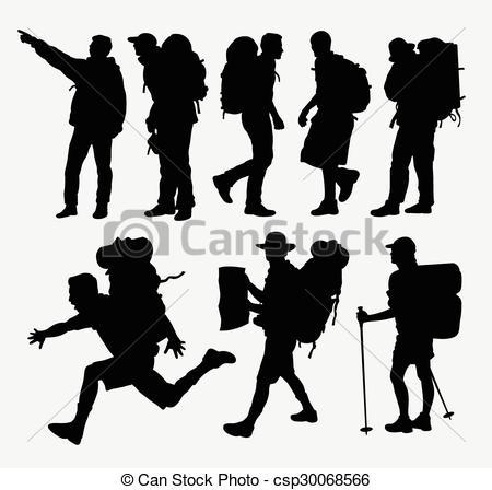 Hiking clipart logo Hiking  silhouettes hiking silhouettes