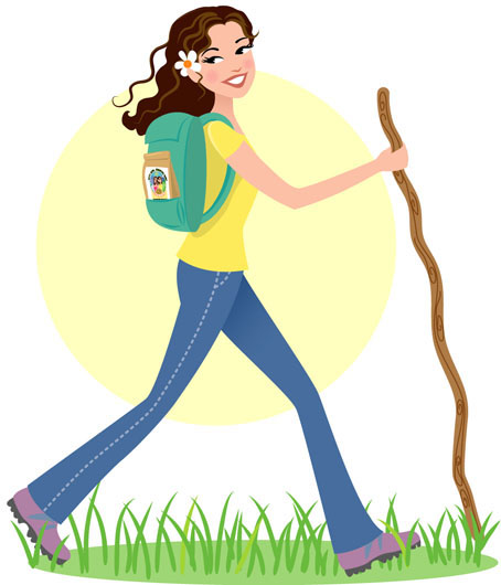Cliparts Girl Clipart Zone Hiker