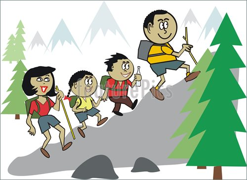 Scary clipart hiker #1