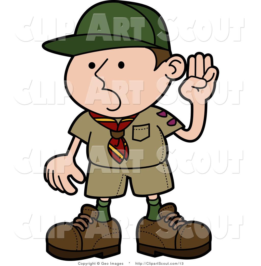 Hiking clipart salute Boy  Clipart boy Cartoon