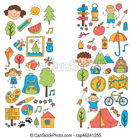 Hiking clipart school camp #10