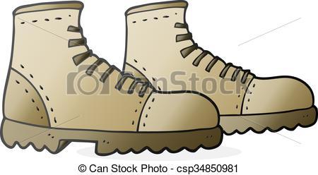Hiking clipart walking boot Walking walking drawn cartoon walking