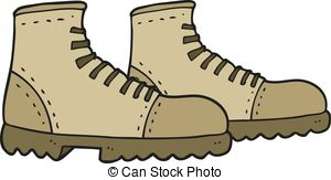 Hiking clipart walking boot  walking and boots boots