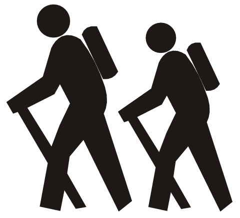Hiking clipart walking group #2