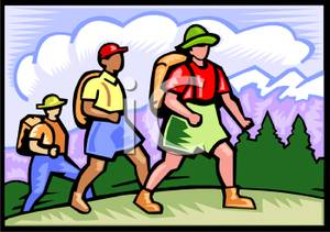 Hiking clipart walking group #3