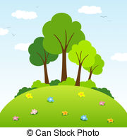 Drawn hill clip art Hills Clip Stock on a