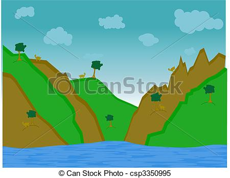 Mountain clipart hill Of csp3350995 hills Goat surrounded