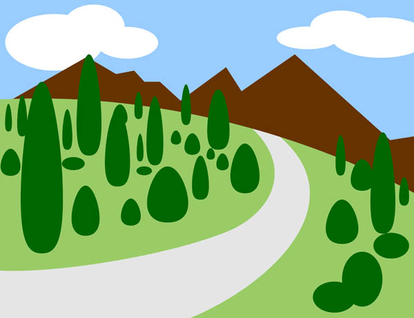 Mountain clipart cute #5