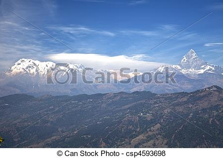 Himalaya clipart mountain range #4