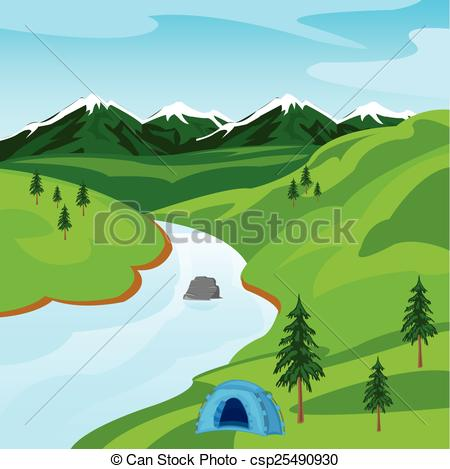 River clipart hill mountain #1