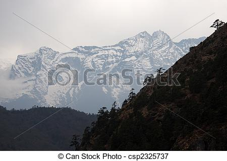 Himalaya clipart mountain tree Snow Trees snow at slope
