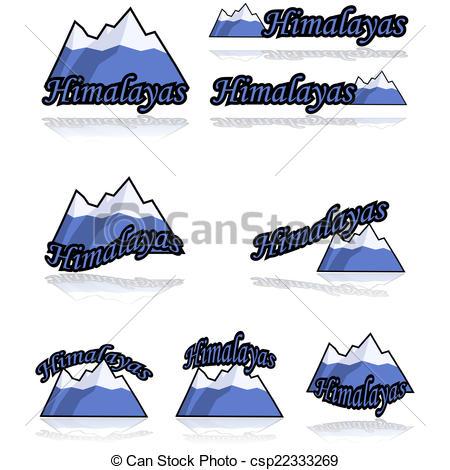 Himalaya clipart moutain Vector showing art Himalayas of