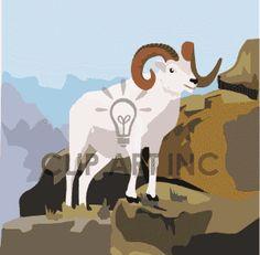 Himalaya clipart rocky mountain  Google silhouette+of+mountain+tahr rocky animals
