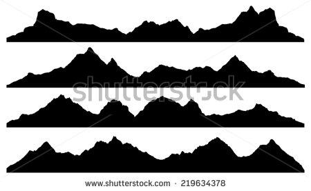 Himalaya clipart rocky mountain  Search silhouette mountain vector