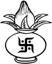 Black & White clipart kalash Symbol art clip Kalash