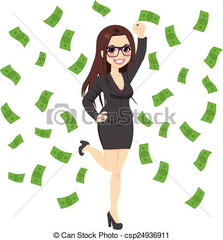 Brunette clipart pigtail Business Clip Successful Successful Rich