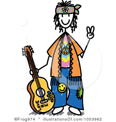 Hippies clipart #2