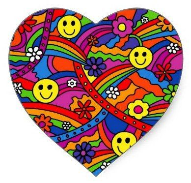 Hippie clipart beautiful heart Smiley Smiles Heart Happy Pinterest