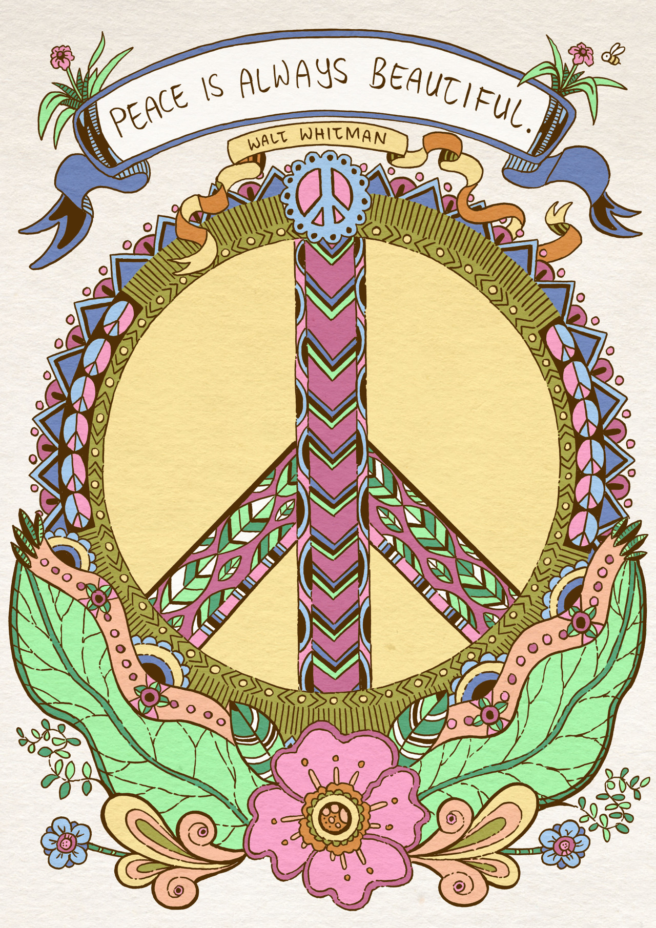 Hippie clipart beautiful heart Art ☮ Sign Peace ☮