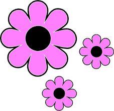 Pink Flower clipart hippie Flowers art art flowers Clip
