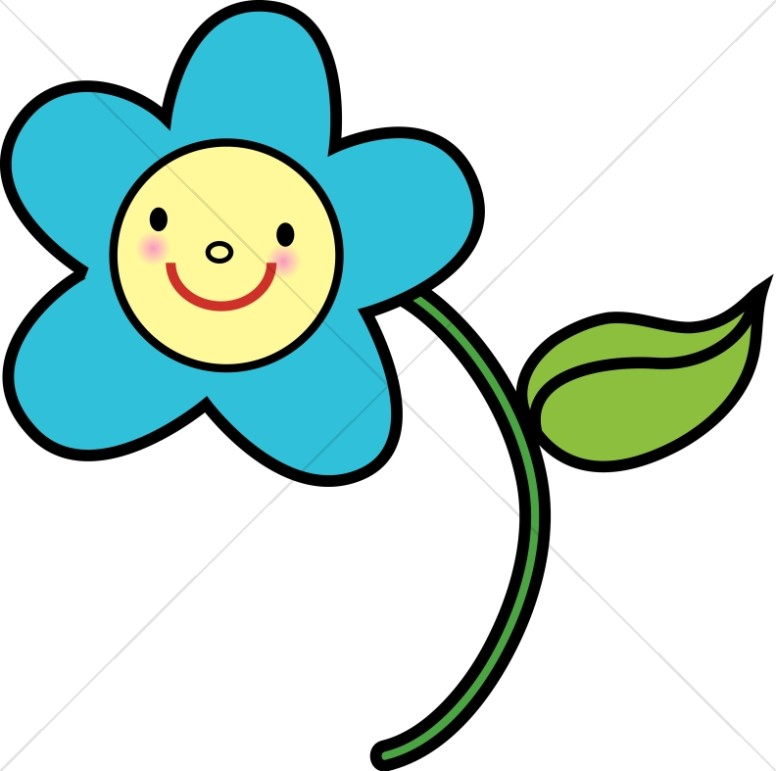 Blue Flower clipart smiley flower Religious Baby Blue Baby Clipart