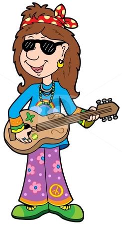 Hippies clipart cartoon Musician musician clipart Cartoon Cartoon