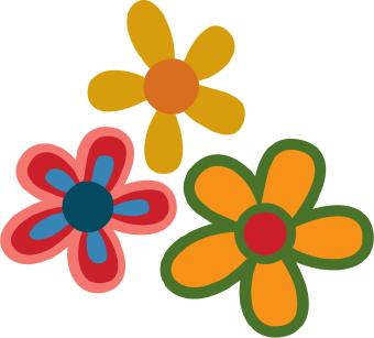 Petal clipart two Colorful flowers  Clip clip