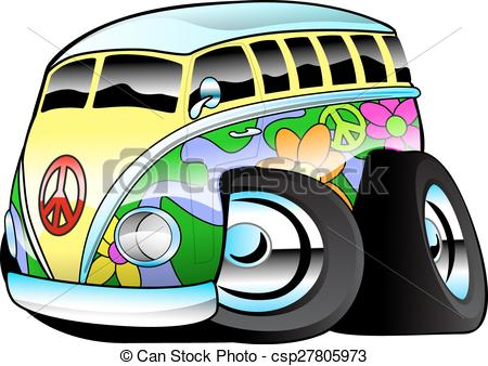 Hippies clipart colorful Colorful Colorful csp27805973 Illustration Bus