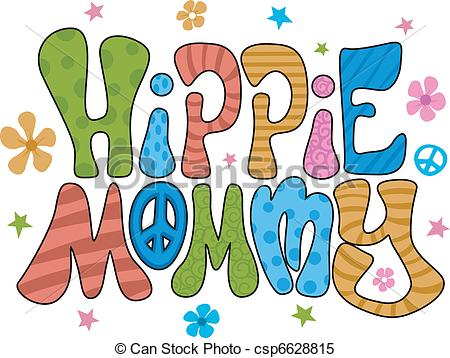 Hippies clipart colorful Colorful Vector Words Mommy Mommy