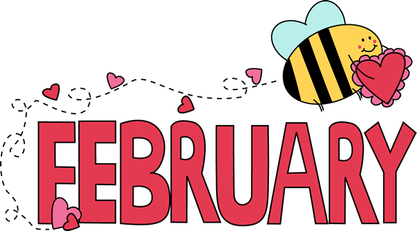 Hearts clipart trail Valentine Clip February Bee of