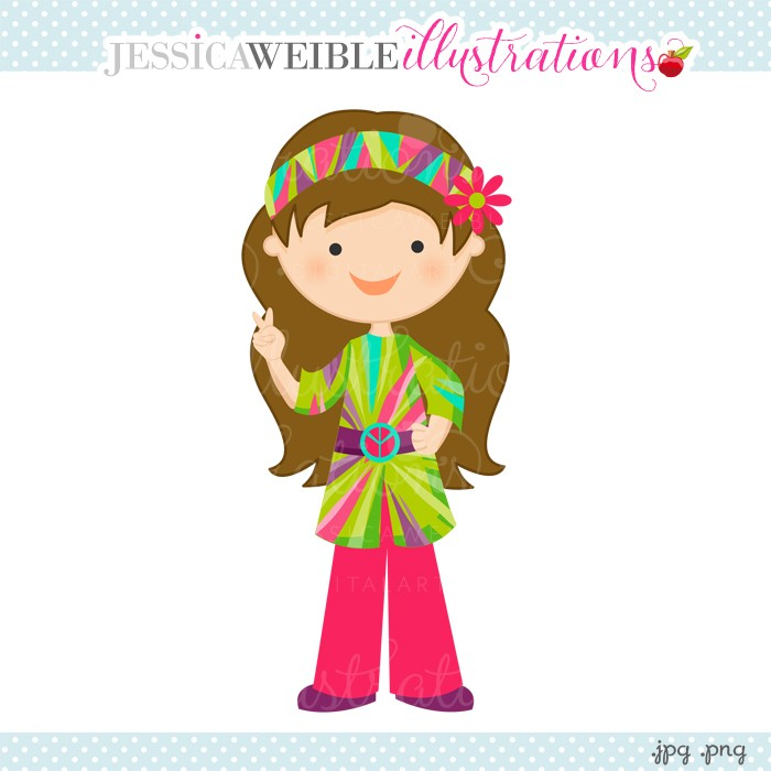 Hippie clipart female #2