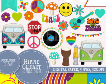 Hippies clipart colorful Hippie Paper PNGs Hippie Use