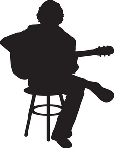 Hippie clipart guitar player Image Acoustic Silhouette Of The