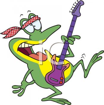 Hippie clipart guitar player Of Guitar Hippie Frog A