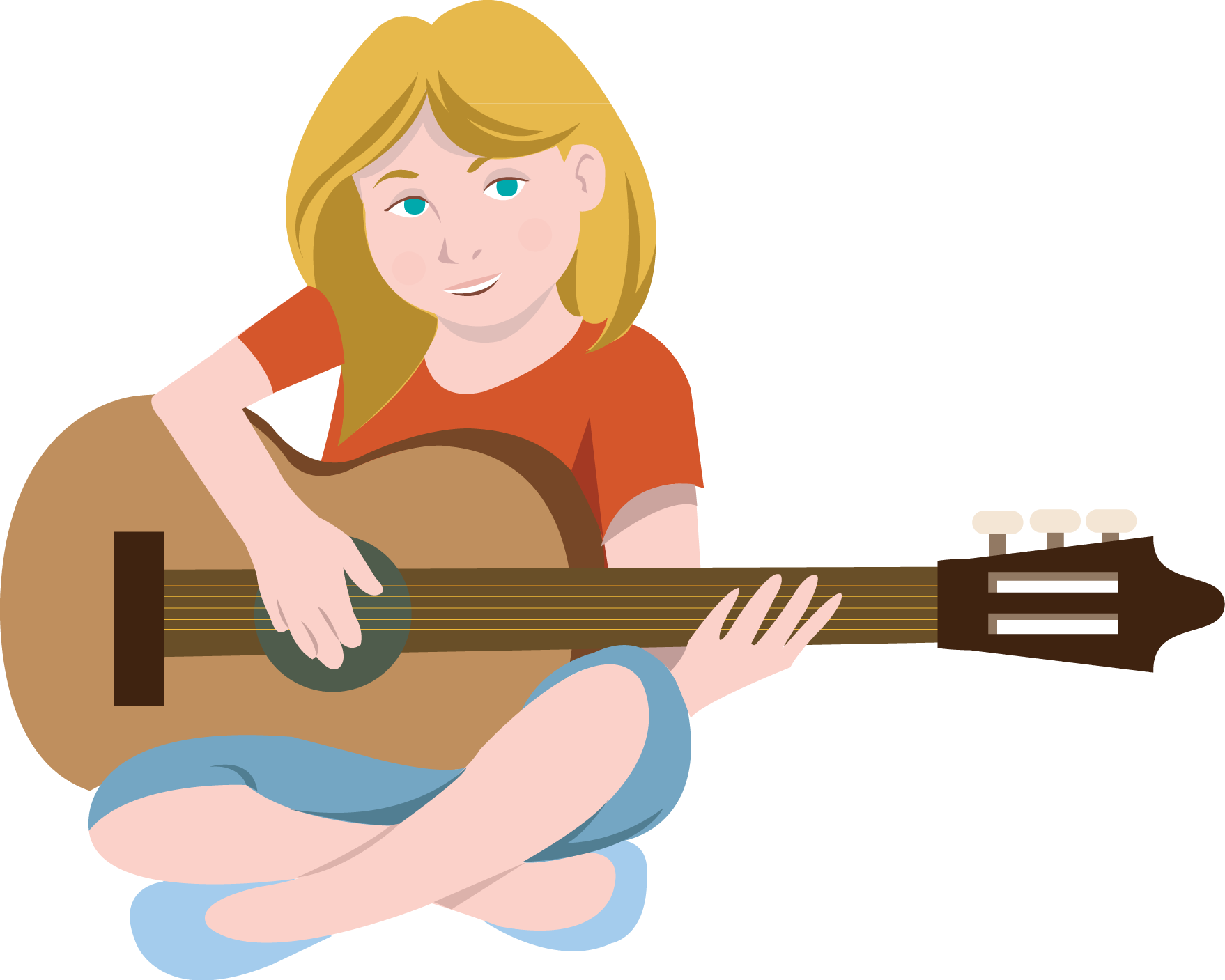 Hippie clipart guitar player Church Collection Clipart player Clipart