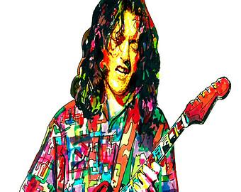 Hippie clipart guitar player Blues POSTER Guitar Hard Rock