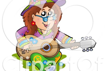 Hippie clipart guitar player Of Guitar vector illustration a
