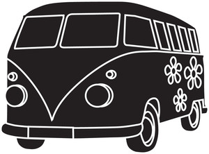Hippie clipart hippie van Retro Clipart Illustration Illustration Clipart