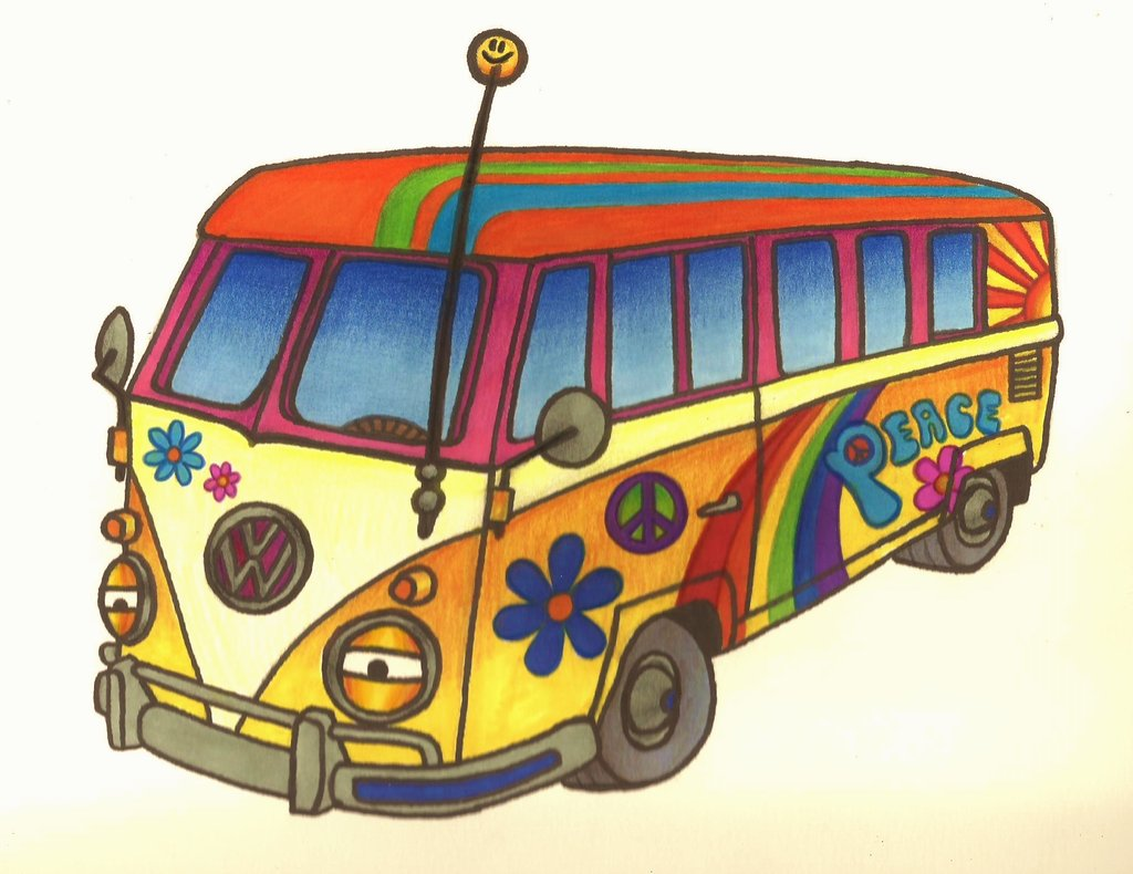 Hippie clipart hippie van Clipart Gallery bus Hippie Hippie