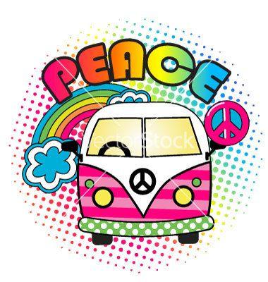 Hippies clipart kombi 243 Hippie bus on