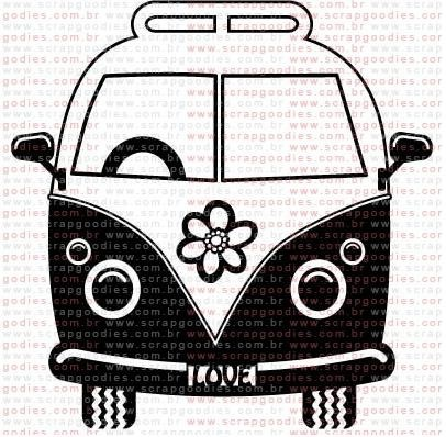Hippies clipart kombi And Find this x hippie