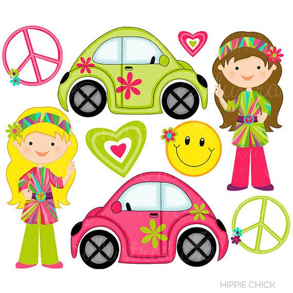 Peace Sign clipart cute Studio Retro Cute OK Girls