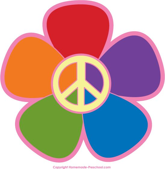 Peace clipart hippie flower Search Power on Peace Flower