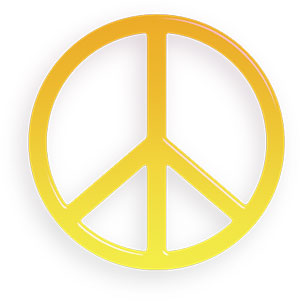 Peace clipart yellow Peace Animations the Clipart world